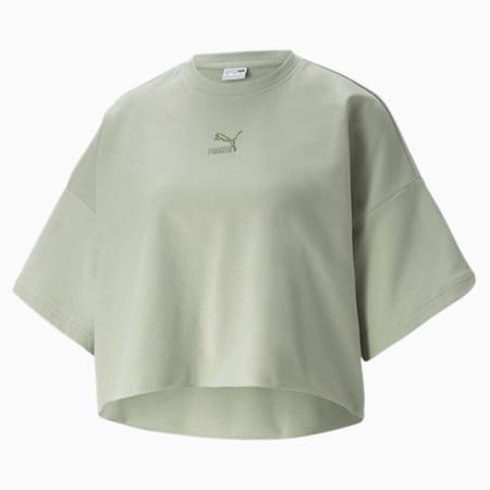 T-shirtà bordures non finies Classics, femme, Desert Sage, petit