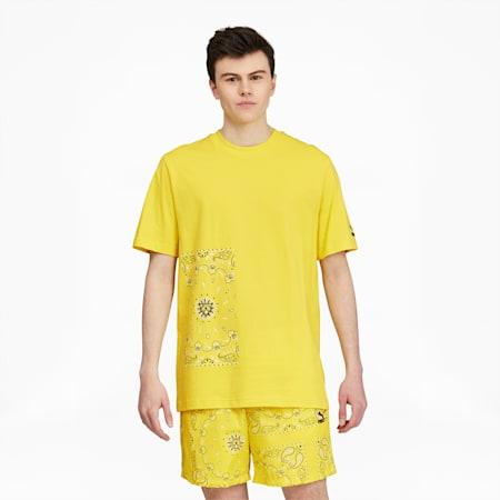 Camiseta estampada OffBeat para hombre, Celandine, pequeño