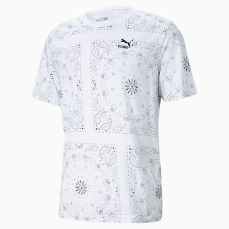 OB Printed Men's Tee, Puma White-AOP, small-GBR