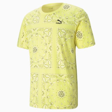 OB shirt met print heren, Celandine-AOP, small