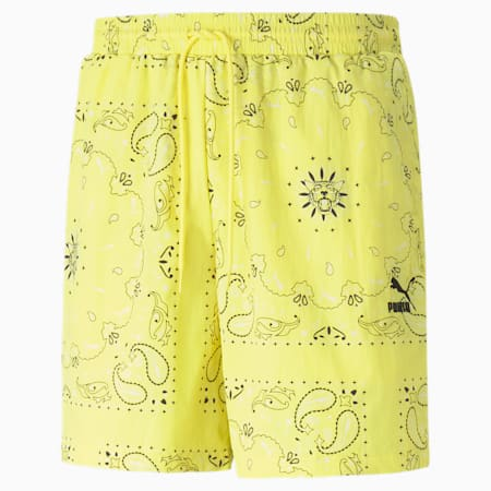 OB Woven Men's Shorts, Celandine-AOP, small-GBR