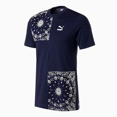 OB パッチワーク Tシャツ, Peacoat, small-JPN