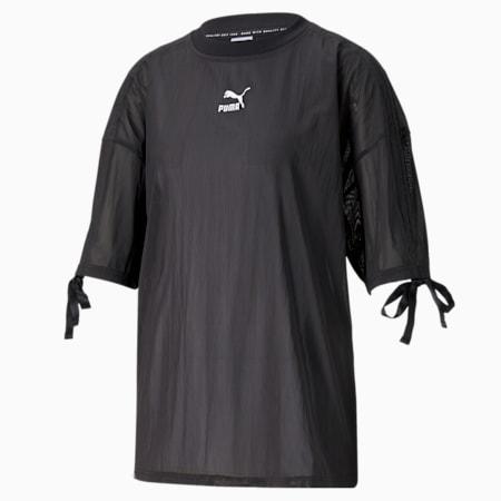 Damski siateczkowy T-shirt PBAE, Puma Black, small