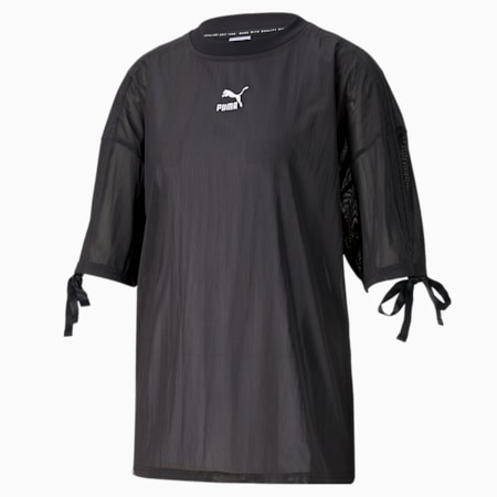PBAE Mesh Damen T-Shirt, Puma Black, small