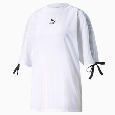 Damski siateczkowy T-shirt PBAE, Puma White, small