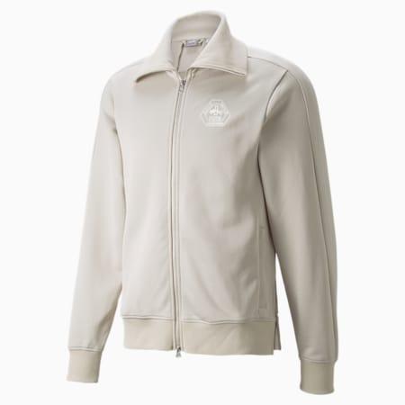 PUMA x RHUIGI Men's Basketball Track Jacket, Oatmeal, small
