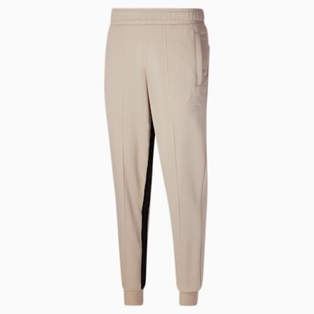 Pantalones deportivosde básquetbolPUMA x RHUIGI para hombre, Oatmeal, pequeño