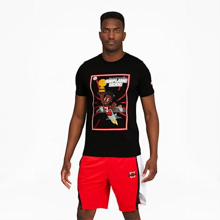 Derrick Jones Men's Basketball Tee, Cotton Black, small-SEA
