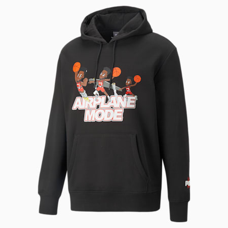 Derrick Jones Men's Basketball Hoodie, Cotton Black, small-GBR