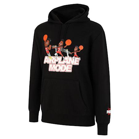 Derrick Jones Men's Basketball Hoodie, Cotton Black, small-SEA