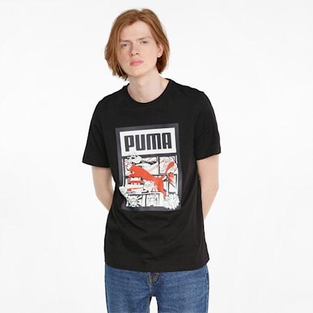 Graphic Box Logo Play Men's Tee, Puma Black-2, small-SEA