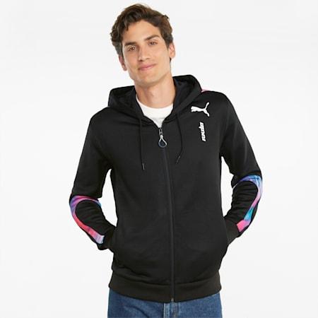 RKDO E7 Hooded Men's Esports Jacket, Puma Black, small