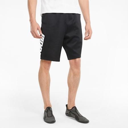 RKDO Men's Esports Sweat Shorts, Puma Black, small