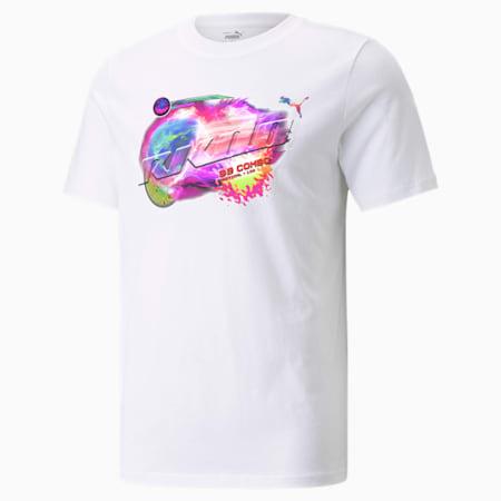 RKDO Graphic Esports T-shirt voor heren, Puma White, small