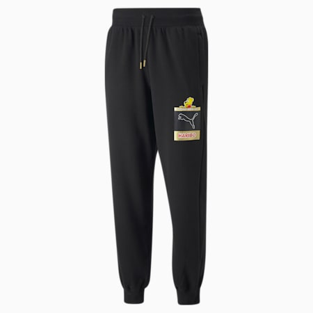 PUMA x HARIBO Relaxed Fit Unisex Track Pants, Puma Black, small-IND