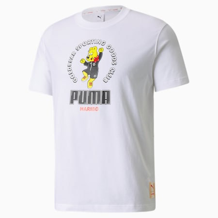 PUMA x HARIBO Relaxed Fit Unisex Loose T-Shirt, Puma White, small-IND