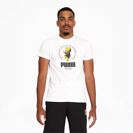 T-shirt à graphique PUMA x HARIBO, Blanc Puma, petit