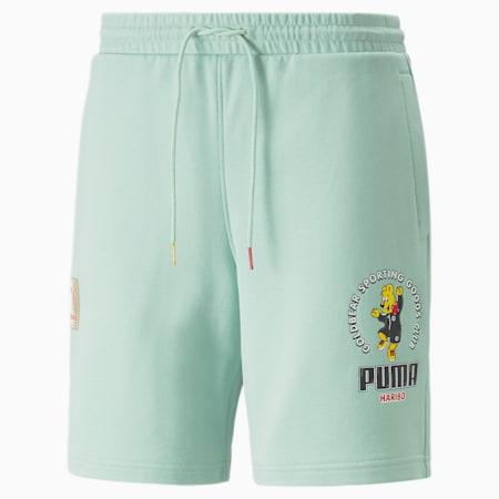 푸마 x 하리보 그래픽 티/PUMA x HARIBO Shorts, Gossamer Green, small-KOR