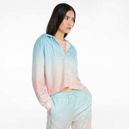 Hoodie mit Gloaming-Print für Damen, Eggshell Blue-Gloaming, small