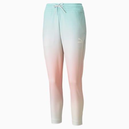 Gloaming Printed Women's Pants, Eggshell Blue-Gloaming, small