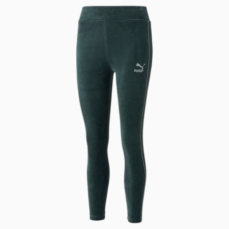 Leggings de velour de cintura alta Iconic para mujer, Green Gables, pequeño