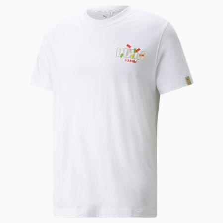 PUMA x HARIBO grafisch T-shirt, Puma White, small
