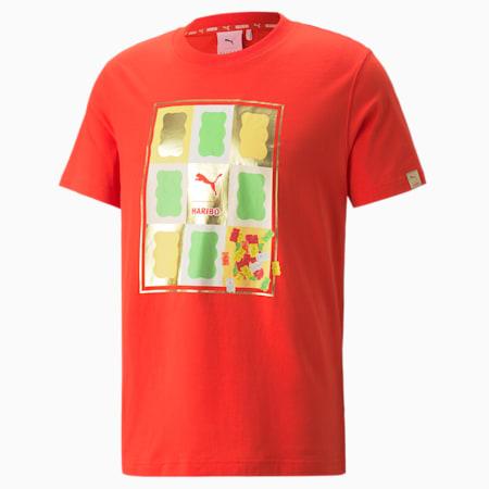 PUMA x HARIBO grafisch T-shirt, Poppy Red, small