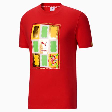 Camiseta estampadaPUMA x HARIBO, Poppy Red, pequeño
