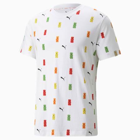 PUMA x HARIBO T-Shirt mit Print, Puma White-- AOP, small