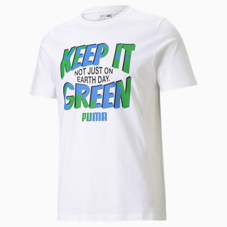 Graphic Key Moments Men's T-Shirt, Puma White, small-IND