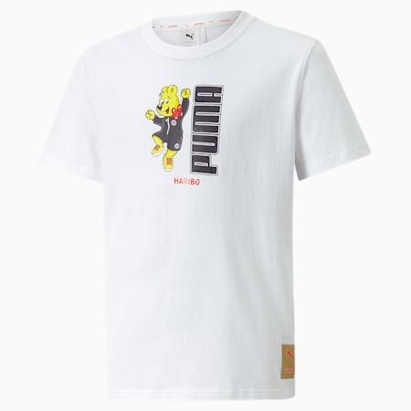 T-shirt grafica PUMA x HARIBO da ragazzo, Puma White, small