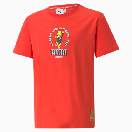 PUMA x HARIBO Graphic Youth Tee, Poppy Red, small-GBR
