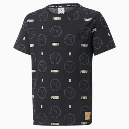 キッズ PUMA x HARIBO AOP Tシャツ, Puma Black-AOP, small-JPN