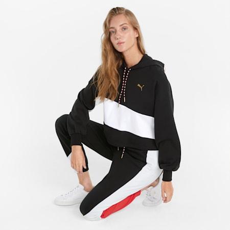 Sudadera con capucha AS para mujer, Puma Black, pequeño
