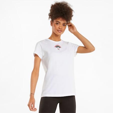 T-shirt graphique AS, femme, Blanc Puma, petit