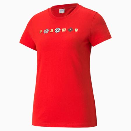 ART OF SPORT グラフィック Tシャツ ウィメンズ, High Risk Red, small-JPN
