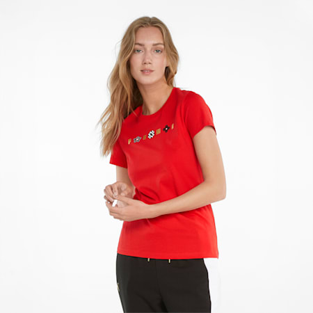 T-shirt graphique AS, femme, Rouge risque élevé, petit
