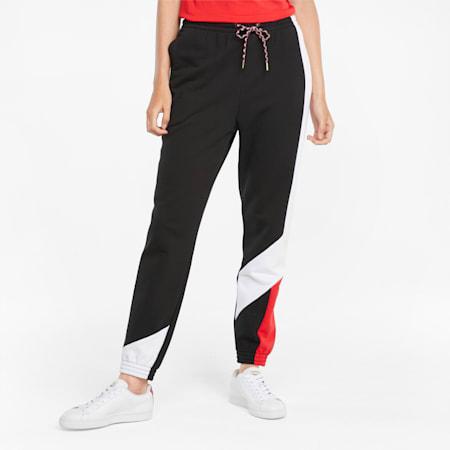 Pantalon de survêtement AS, femme, Puma Black, petit