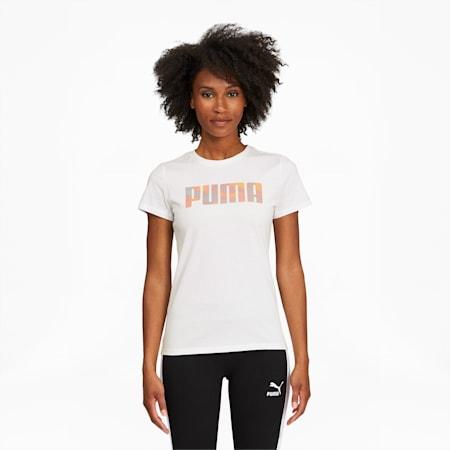 T-shirt Tie Dye, femme, Blanc Puma, petit
