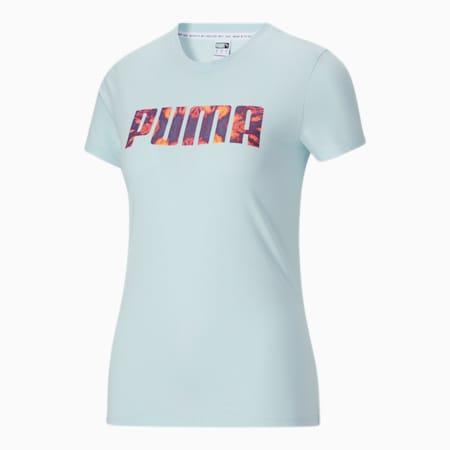 T-shirt Tie Dye, femme, Lueur bleue, petit