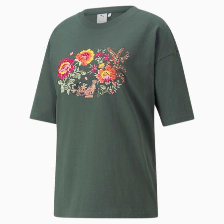 T-shirt con grafica PUMA x LIBERTY da donna, Green Gables, small
