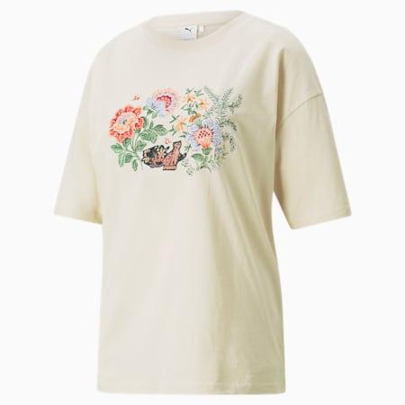 T-shirt con grafica PUMA x LIBERTY da donna, Birch, small