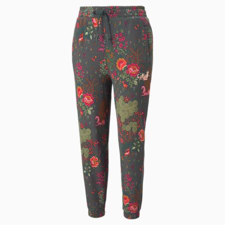 Pantalon en molleton imprimé PUMA x LIBERTY, femme, Pignons verts, petit