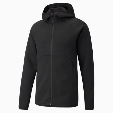Dime Men's Basketball Jacket, Puma Black-Puma Black, small