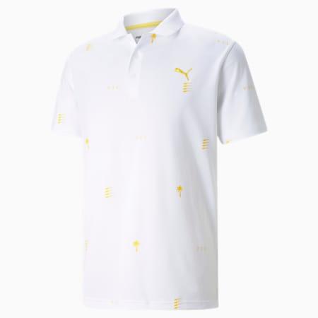 Męska golfowa koszulka polo PUMA x PTC Edition, Bright White, small