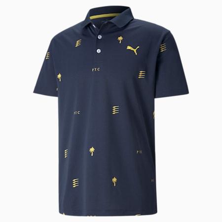 PUMA x PTC Edition Herren Golf-Poloshirt, Navy Blazer, small