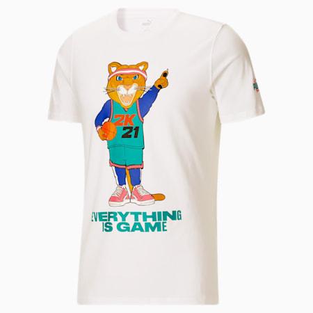 Camiseta de básquetbol2K Dylan para hombre, Puma White-Lapis Blue, pequeño