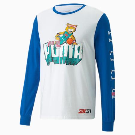 2K Long Sleeve Men's Basketball Tee, Puma White, small-GBR