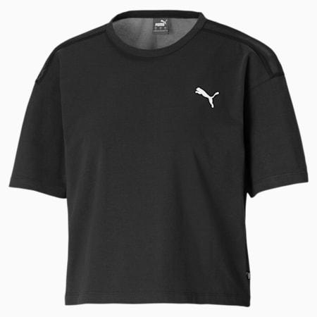 T-shirt corta in piqué di cotone donna, Puma Black, small