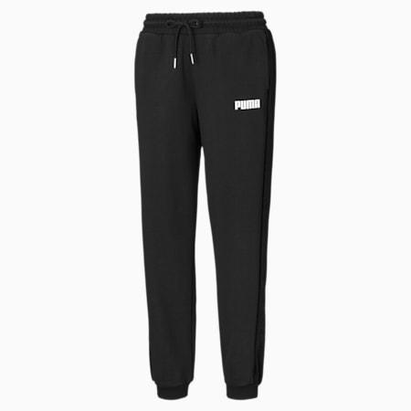 Gebreide broek met fluwelen zijpanelen voor dames, Puma Black, small